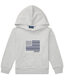 Toddler Boys Embroidered Terry Cotton Hoodie, Created For Macy's
