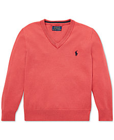 Polo Ralph Lauren Little Boys Cotton V-Neck Sweater