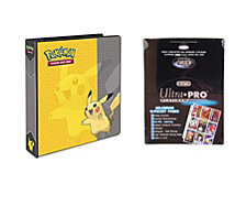 "Ultra Pro Pokemon Pikachu 2"" 3 Ring Binder Card Album with 100 Ultra Pro Platinum 9 Pocket Sheets"