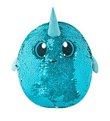 "Shimmeez 8"" Arlo Narwhal, Sequin Plush Stuffed Animal"