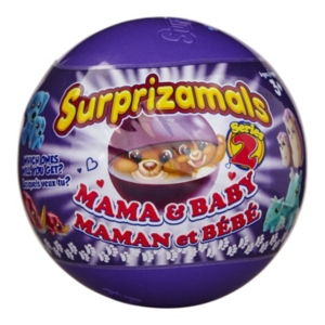 Surprizamals Mama and Baby Mystery Balls with 2 Collectible Plush Toys Series 2