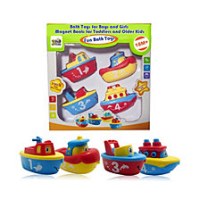 3 Bees and Me Bath Toys Magnetic Boat Set