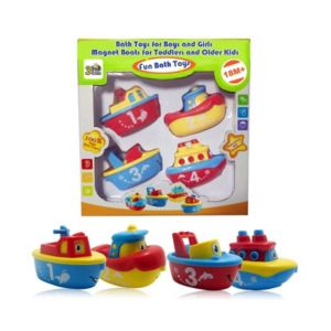Image of 3 Bees and Me Bath Toys Magnetic Boat Set