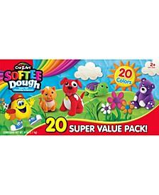 Cra Z Art Softee Dough Super Soft Modeling Compound Super Value 20 Pack