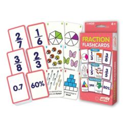 Junior Learning Fraction Flashcards Shapes, Objects and Word Problems