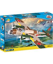 COBI Small Army World War II Nakajima KI49 Helen Airplane 530 Piece Construction Blocks Building Kit