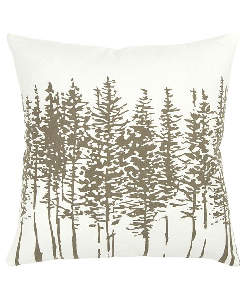 """Rizzy Home 18"""" x 18"""" Trees in a Line Pillow Cover"""