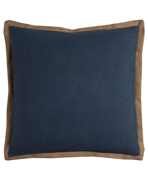 "Rizzy Home Solid 22"" x 22"" Pillow"