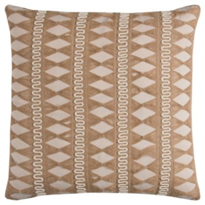 "22"" x 22"" Pulled Jute Stripe Down Filled Pillow"