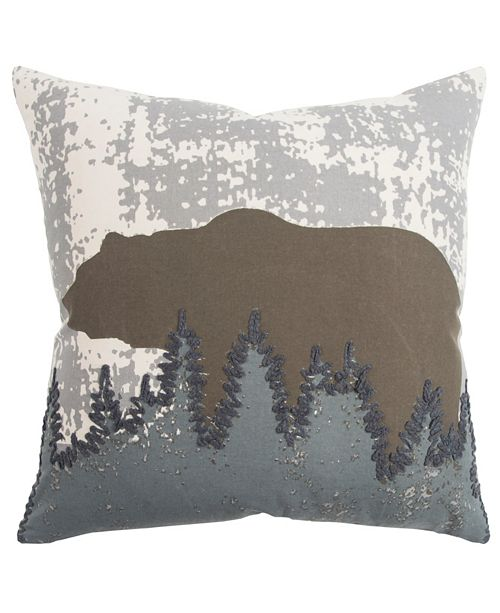 """Rizzy Home 20"""" x 20"""" Animal Print Down Filled Pillow"""