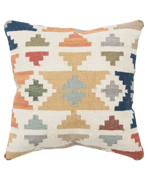 "Rizzy Home 22"" x 22"" Geometrical Design Down Filled Pillow"