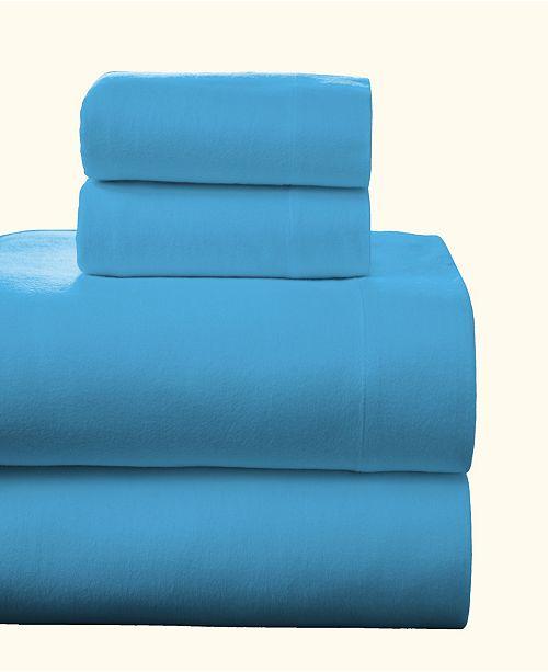 Pointehaven Superior Weight Cotton Flannel Sheet Set - Twin
