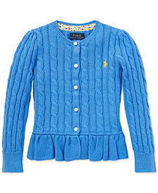 Polo Ralph Lauren Toddler Girls Peplum Cardigan