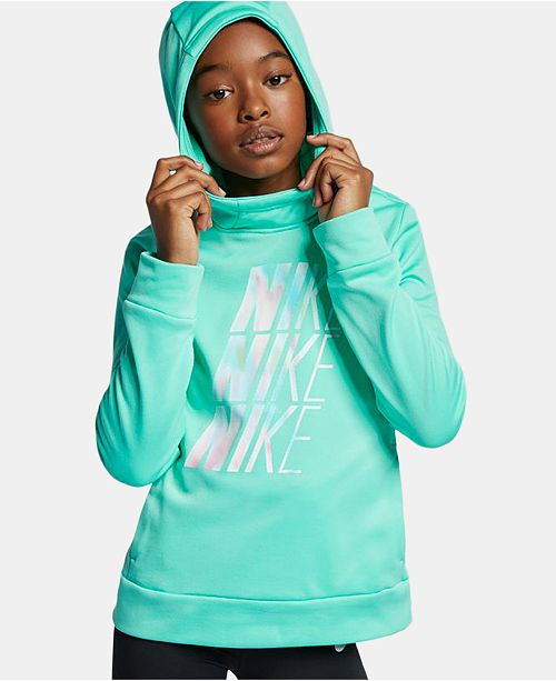 Nike Big Girls Therma Logo Print Training Hoodie & Reviews
