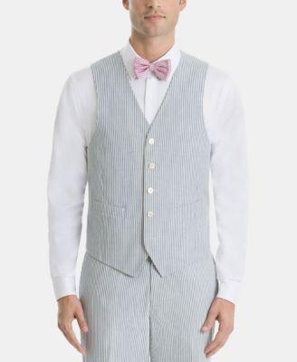 Men's UltraFlex Classic-Fit Blue Stripe Cotton Vest