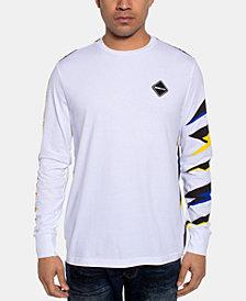 Sean John Men's Long-Sleeve Razor Print T-Shirt