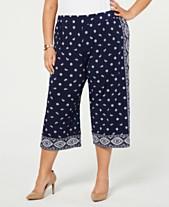 MICHAEL Michael Kors Plus Size Printed Culotte Pants 2996198f8