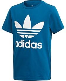 adidas Originals Big Boys Logo-Print Cotton T-Shirt