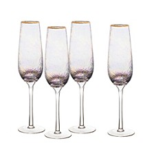 Celine Gold Flutes - Set of 4