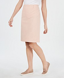 Rivet-Waist A-Line Skirt, Created for Macy's