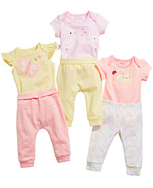 First Impressions Baby Girls Bodysuits & Jogger Pants, Created for Macy's