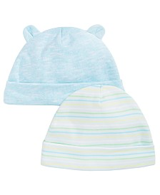 First Impressions Baby Boys 2-Pk. Hats, Created for Macy's
