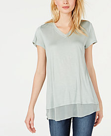 I.N.C. Petite V-Neck Tunic, Created for Macy's