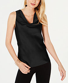 I.N.C. Cowlneck Satin Top, Created for Macy's