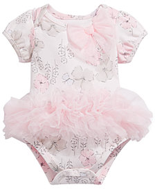 First Impressions Baby Girls Floral-Print Tutu Bodysuit, Created for Macy's