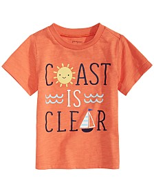 First Impressions Baby Boys Coast-Print T-Shirt, Created for Macy's