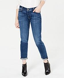 Josefina Rolled-Hem Straight-Leg Jeans