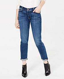 7 For All Mankind Josefina Rolled-Hem Straight-Leg Jeans