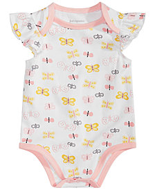 First Impressions Baby Girls Butterfly-Print Bodysuit, Created for Macy's