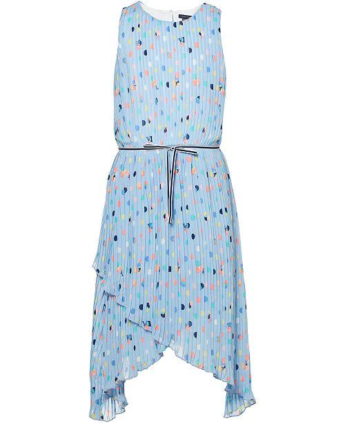 f6086ce99 Tommy Hilfiger Big Girls Pleated Dot-Print Dress & Reviews - Dresses ...