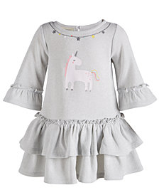 First Impressions Baby Girls Unicorn Dress, Created for Macy's