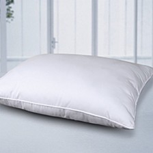 Self-Cooling Multi-Position Feather-Core and Cotton-Filled Soft Bed Pillow with Cotton Cover