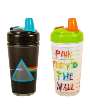 2- Pack of Pink Floyd Dark Side of The Moon and The Wall Sippy Cups by Daphyl's