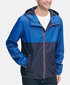 Tommy Hilfiger Men's Colorblocked Logo Rain Slicker