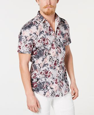 I.N.C. Men's Watercolor Floral Shirt, Created for Macy's