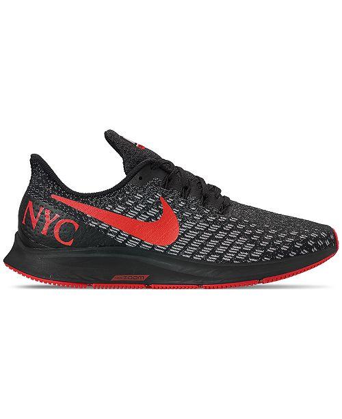 867f9ebff9441 ... Nike Men s Air Zoom Pegasus 35 NYC Marathon Running Sneakers from  Finish ...