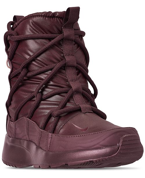 fc08274ca3dc42 ... Nike Women s Tanjun High Rise High Top Sneaker Boots from Finish ...