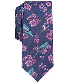 Bar III Men's Eve Floral Skinny Tie, Created for Macy's