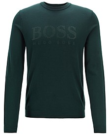 BOSS Men's Ramnok Logo Graphic Virgin Wool Sweater