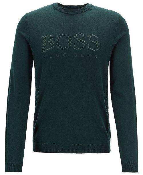 00cf2df42 ... Hugo Boss BOSS Men's Ramnok Logo Graphic Virgin Wool Sweater ...
