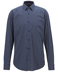 BOSS Men's Micro-Pattern Shirt