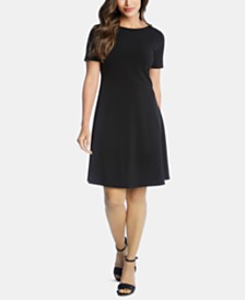 Karen Kane Short-Sleeve A-Line Dress