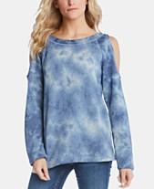 ee0c7f785b74b Karen Kane Tie-Dye Cold-Shoulder Sweater