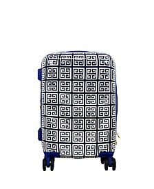 """FUL Macbeth Collection Geo-Print 21"""" Hardside Spinner Suitcase"""