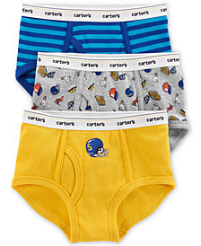 Carter's Little & Big Boys 3-Pk. Sports & Stripes Cotton Briefs