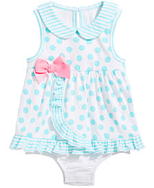 First Impressions Baby Girls Dot-Print Sunsuit, Created for Macy's
